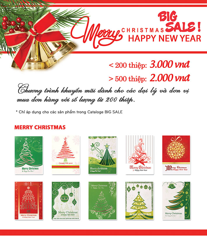 Thiệp Giáng Sinh, Thiệp Noel sale