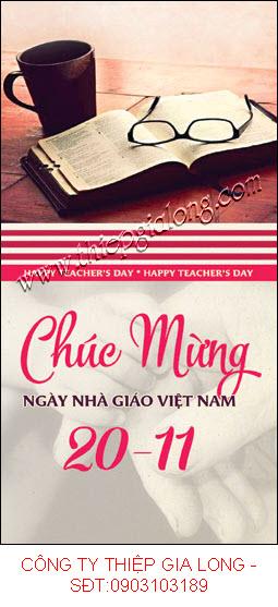 Thiệp ngày nhà giáo việt nam 20 11 ý nghĩa gắn liền với công việc người Thầy