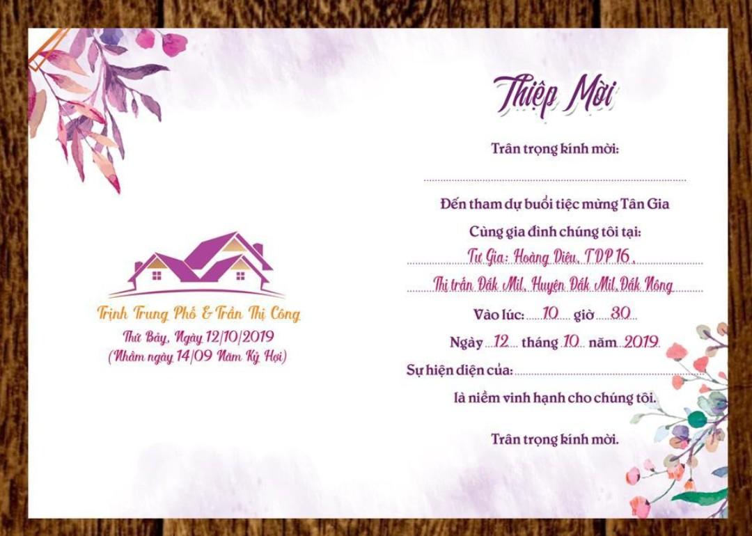 www.123nhanh.com: Thiệp mời tân gia trọn bộ đã in sẵn nội dung