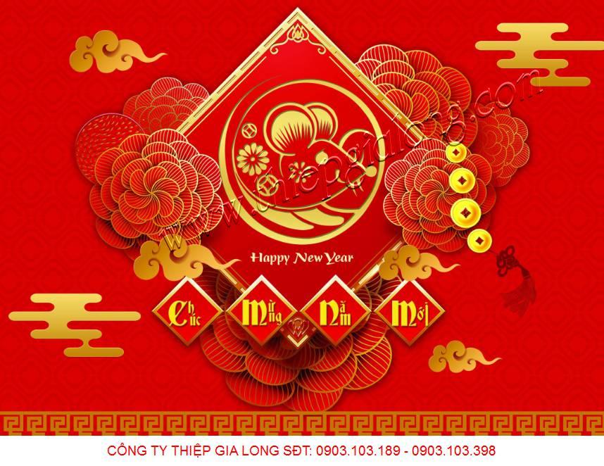 www.123nhanh.com: Đặt in thiệp chúc Tết 2020 có sẵn giá rẻ